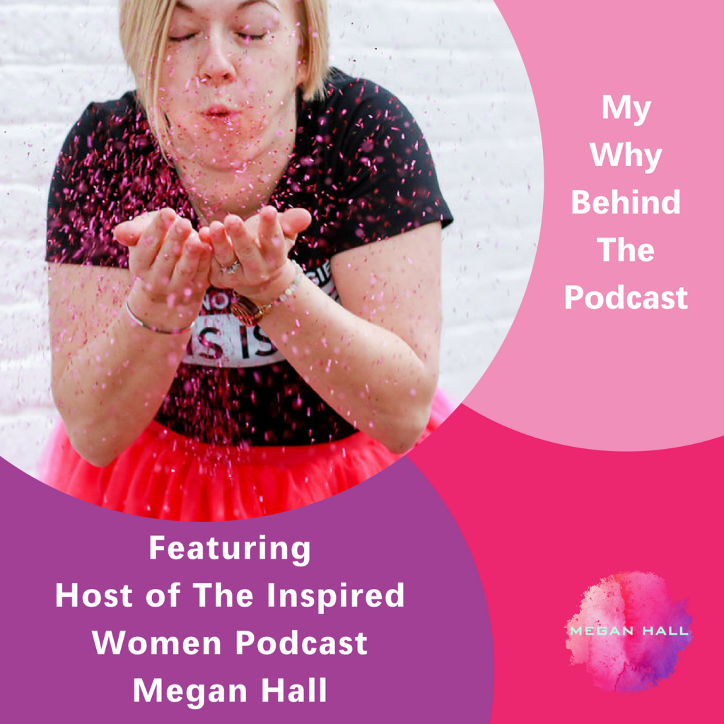 My Why Behind the podcast. The Inspired Women Podcast, Megan Hall